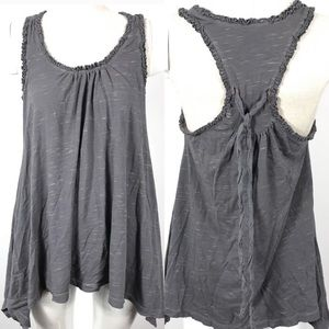 Splendid tank top ruffled tie back